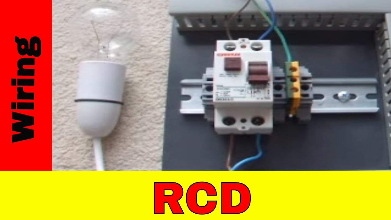 how to wire residual current device rcd youtube wiring a fuse box rcd [ 1280 x 720 Pixel ]