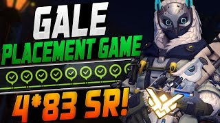 GALE CARRY ANA FINAL PLACEMENT GAME! 4*83 BOYS!? [ OVERWATCH SEASON 9 START TOP 500 ]