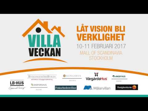 VillaVeckan i Mall Of Scandinavia 10-11 februari