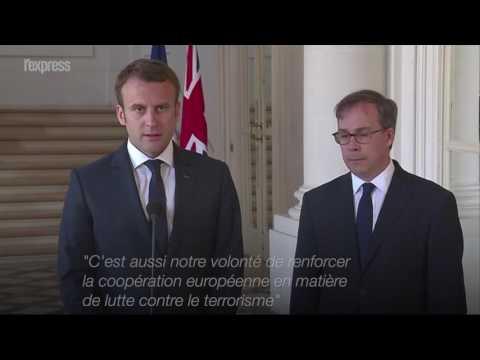 """Macron: """"La jeunesse européenne a été attaquée"""""""