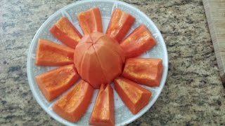 How to peel and cut Papayas easily and safer ways for the first timer.