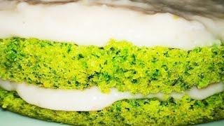 Бисквит со ШПИНАТОМ ☆ Высокий БИСКВИТ без разделения яиц ☆ Бисквит для Торта