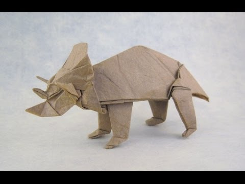Fold An Origami Triceratops