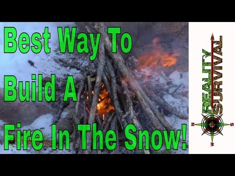Best Way To Build A Fire In The Snow