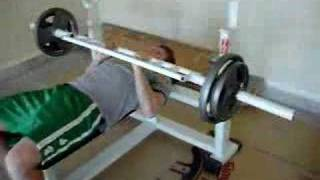 Homemade Tricep Bar Bench Press