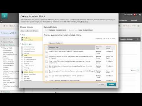 How to Create a Random Block of Test Questions - YouTube