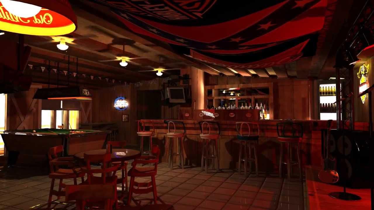 Biker bar 3d animation high res set youtube - Images of bars ...