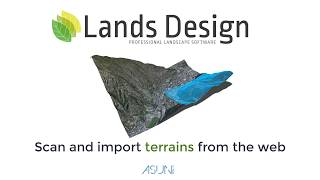 Scan Import terrains from the web in Lands Design for Rhino