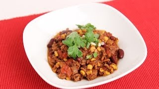 Homemade Turkey Chili Recipe - Laura Vitale - Laura In The Kitchen Episode 705