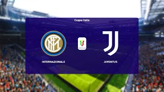 Inter Milan vs Juventus Coppa Italia Semi Finals 02 02 2021 PES 2021