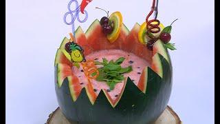 طريقة تحضير عصير البطيخ بالفراولة | زينب مصطفى