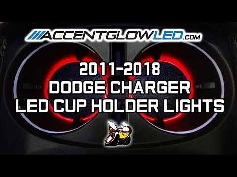 Dodge Charger LED Cup Holder Lights Install 2011-2018 AccentGlowLED