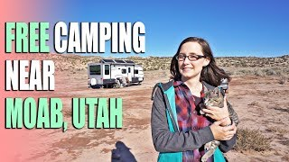 Free Camping Near Moab, Uтah by Arches & Canyonlands off BLM 143 - Campsite Review