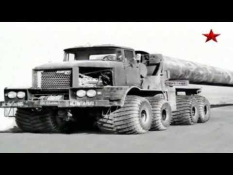 Советские тягачи трубовозы. Монстры грузовики. Сделано в СССР.