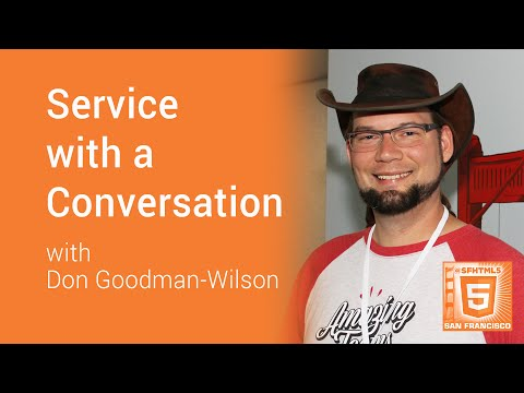 Service with a Conversation with Don Goodman-Wilson
