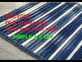 Recycle old jeans/denim/pant -SIMPLE & EASY MAKING floor mat, door mat,area rug,table mat