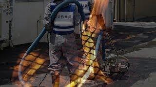 ゴミ箱の中で除染作業員が焼死