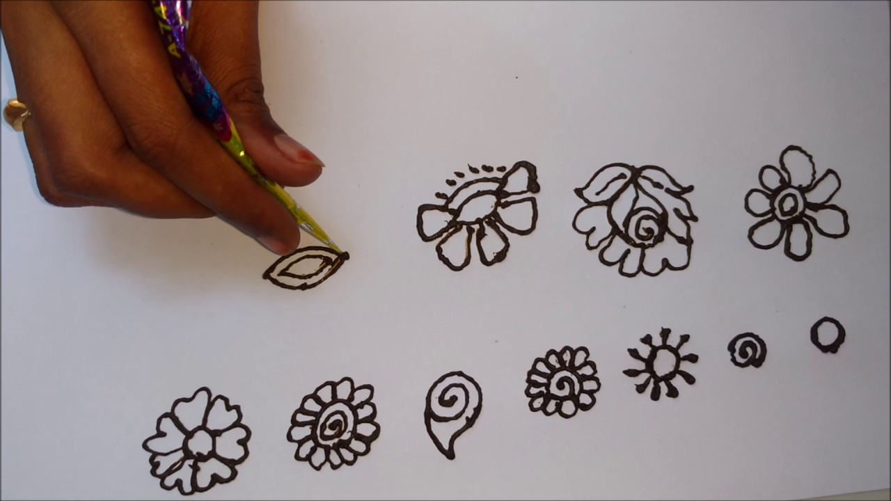 Easy Mehndi Tutorial : Basic mehndi designs for beginners simple design tutorial