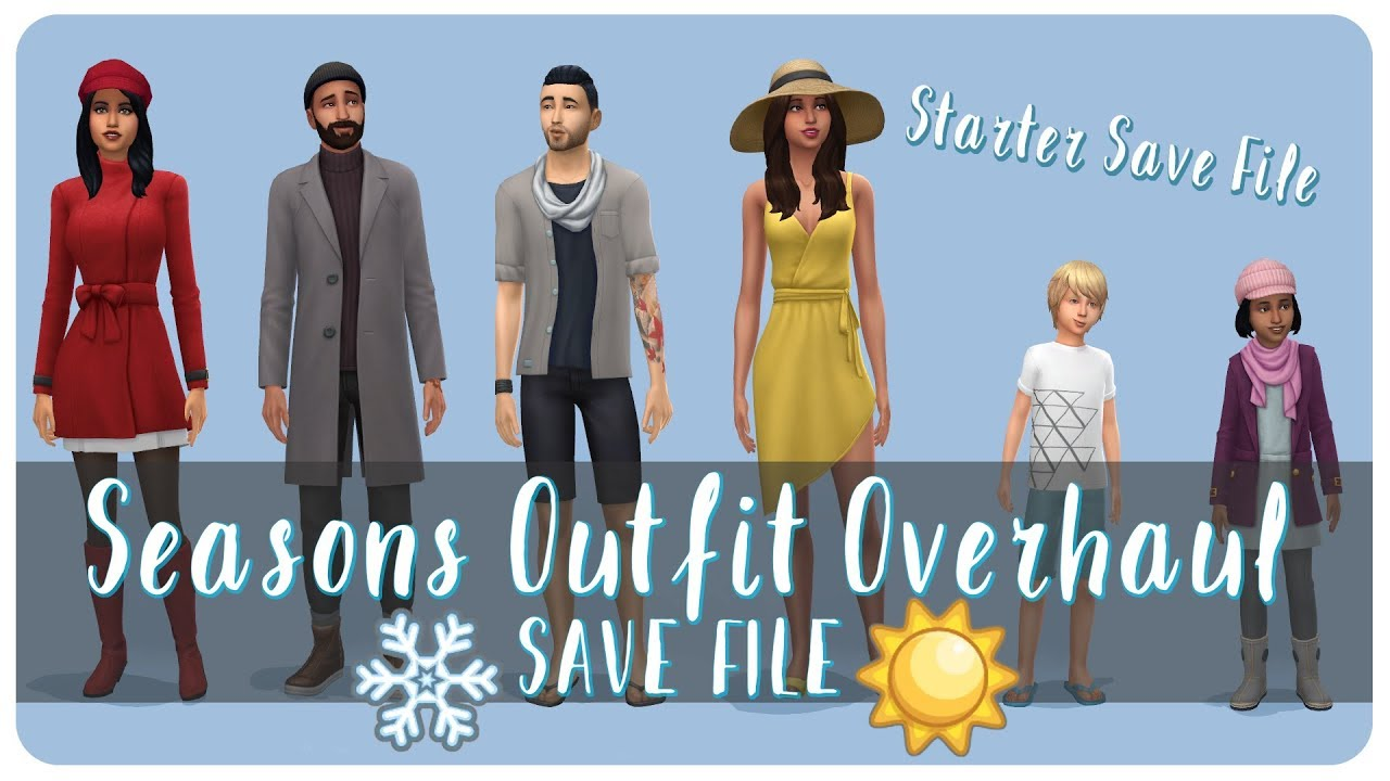 Seasons Outfit OVERHAUL | The Sims 4 Starter Save