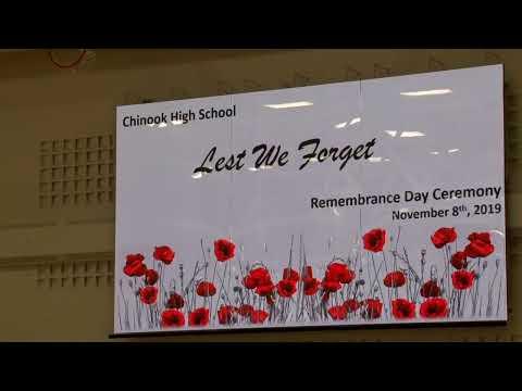 Rememberance Day 2019 Chinook High School
