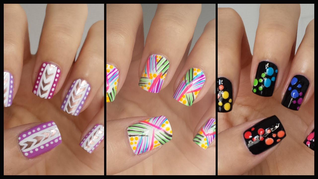 Easy nail art for beginners 13 jennyclairefox youtube prinsesfo Images