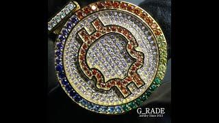 G_RADE Jewelry 지레이드 쥬얼리 [Rainbow G_it Coin Pendant]