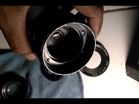 Canon lens fd 35mm bongkar cleaning total