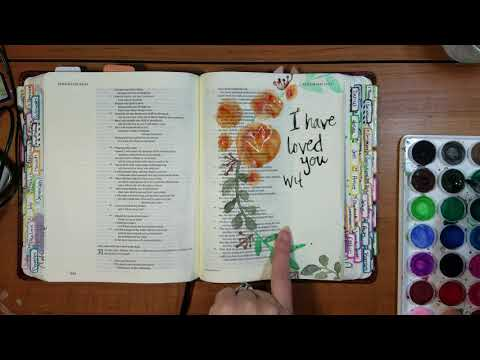 Everlasting Love Bible Journaling Process by Krista Marie Design