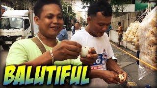 BALUT EATING CONTEST   PHILIPPINES STREET FOOD   MANILA