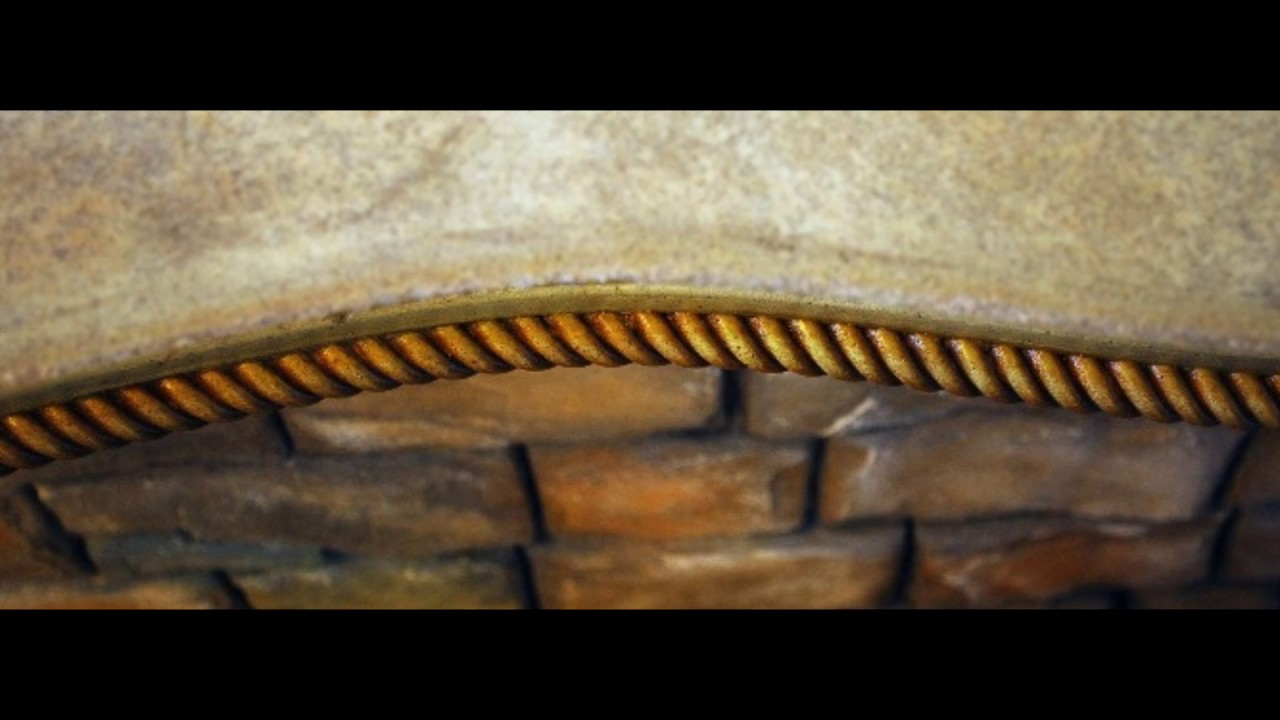 Rope Concrete Countertop Edge Form
