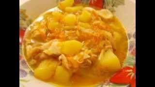 Картофель тушеный с курицей рецепт в мультиварке