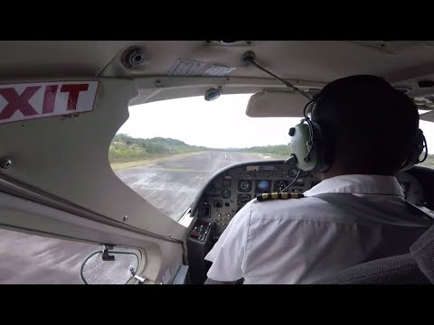 Trans Guyana Airways Charter Flight Departs Kaieteur National Park (KAI) for Georgetown (OGL)