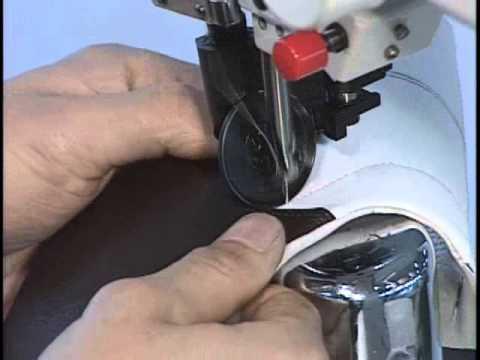 Máy may cho chuyền sản xuất giày da - sewing machine produce shoes.