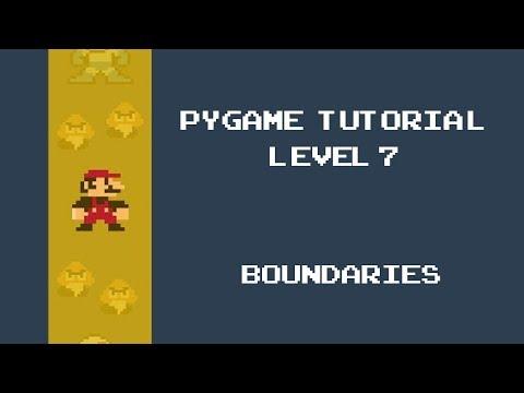Pygame Tutorial - 7 - Adding boundaries to our game thumbnail