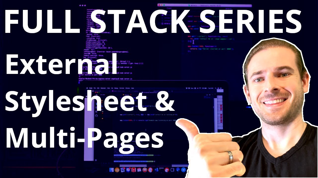 Using External Stylesheets & Multiple Pages | Beginner's Series to Full Stack Web Development
