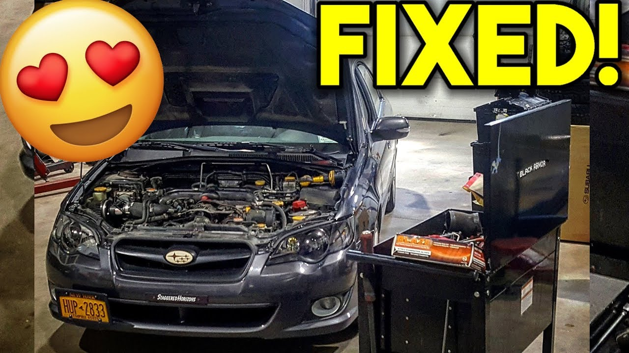 medium resolution of my subaru legacy gt is fixed most common subaru boost leak turbo issue