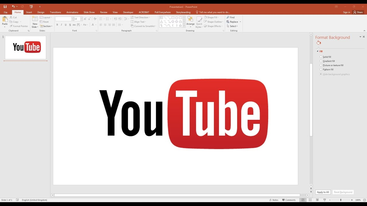 how to add youtube video to powerpoint