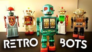 Five Retro Toy Robots