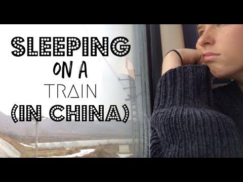 Sleeping on an overnight train in China