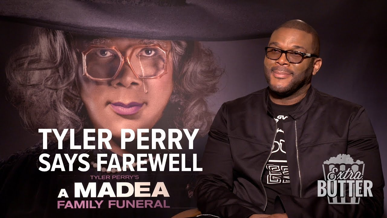 Tyler Perry says farewell to Madea | 'A Madea Family Funeral' Interview | Extra Butter