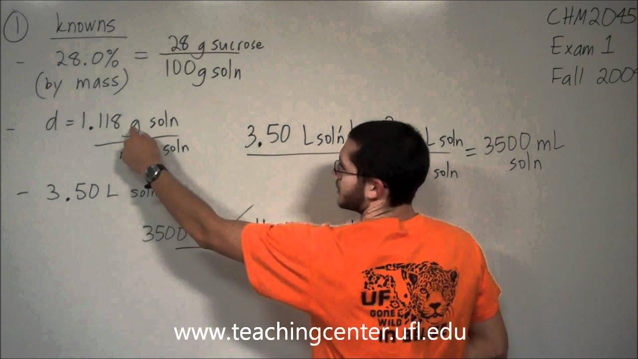 CHM 2045 » Teaching Center » University of Florida