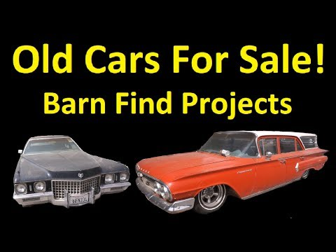 OLD CLASSIC CARS ~ BUY BARN FINDS PROJECT CAR VIDEO