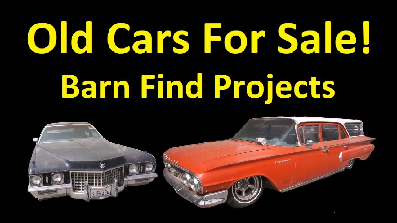 OLD CLASSIC CARS ~ BUY BARN FINDS PROJECT CAR VIDEO - YouTube