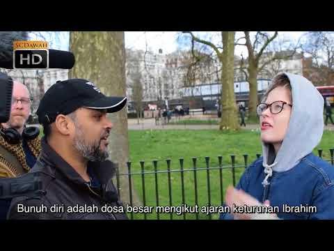 Mengapa Tuhan Salib Dirinya Untuk Ampunkan Dosa!? Hashim vs Christian Girl   Speakers Corner  