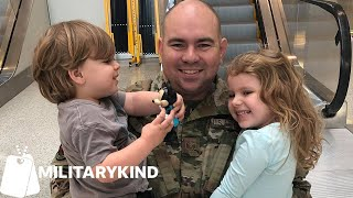 Toddler's reaction to Air Force dad is so bad he gets a redo 🙈 | Militarykind