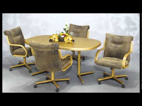 Chromcraft Furniture Swivel Tilt Caster Chair and Table