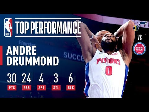 Andre Drummond SHOWS OUT vs The Utah Jazz