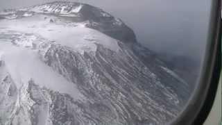 The summit of Kilimanjaro from the air, including Uhuru Peak