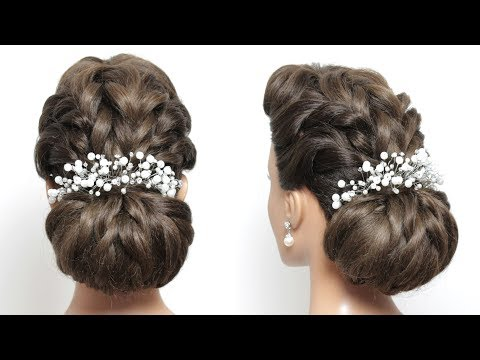 Bridal Updo Hairstyle For Long Hair Tutorial