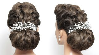 Bridal Updo. Hairstyle For Long Hair Tutorial